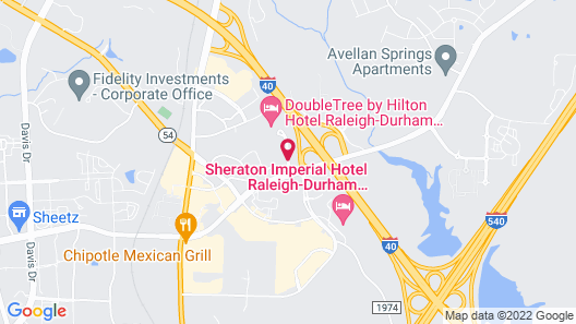 DoubleTree Raleigh Durham Airport at Research Triangle Park Map