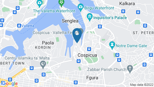 Apartment With one Bedroom in Cospicua, With Wifi - 500 m From the Beach Map