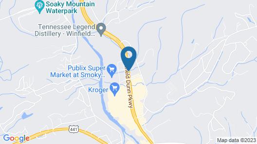 Hampton Inn Sevierville Map