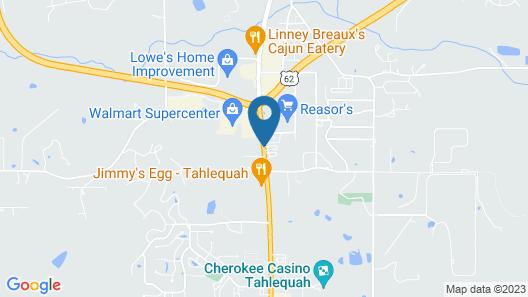Tahlequah Motor Lodge Map