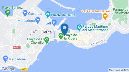 Hotel Ceuta Puerta de África Map