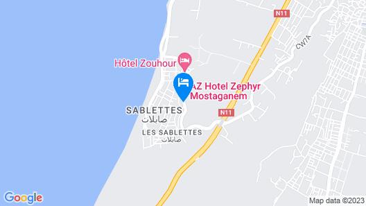AZ HOTEL LE ZEPHYR MOSTAGANEM Map
