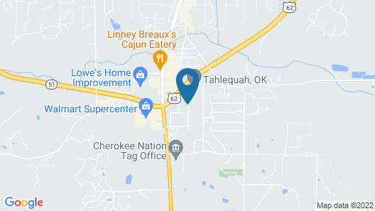 Holiday Inn Express & Suites Tahlequah, an IHG Hotel Map