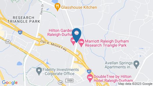 Hilton Garden Inn Raleigh-Durham/Research Triangle Park Map