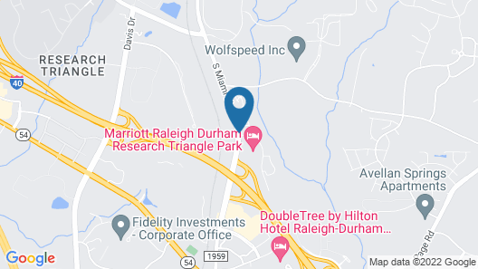 Marriott Hotel at Research Triangle Park Map