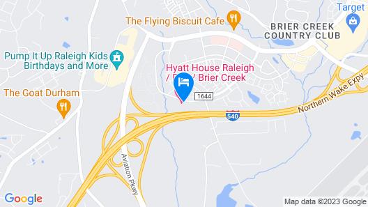 Hyatt House Raleigh / RDU / Brier Creek Map