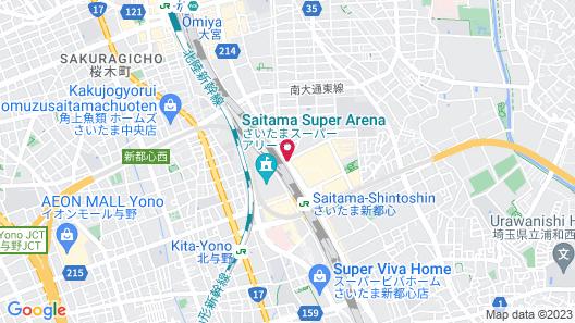 Toyoko Inn Saitama Shintoshin Map