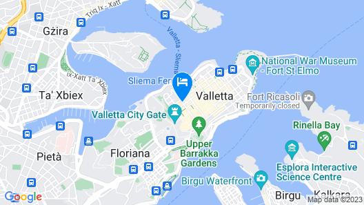 La Falconeria Hotel Map