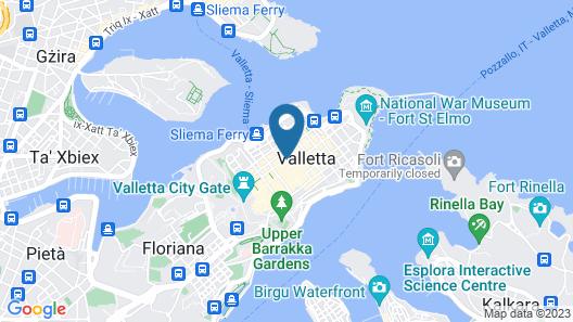 The Embassy Valletta Hotel Map
