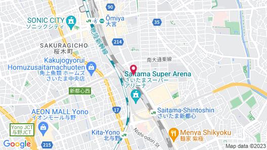 APA HOTEL SAITAMA SHINTOSHIN EKI-KITA Map