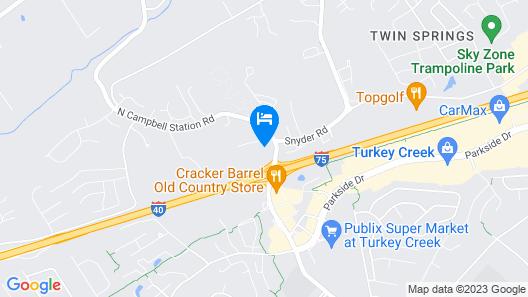 Comfort Suites Knoxville West - Farragut Map