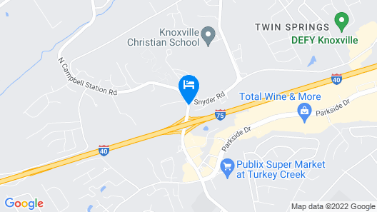 Holiday Inn Express & Suites Knoxville-Farragut Map