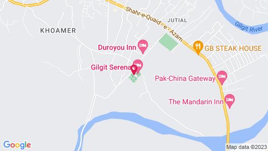 Gilgit Serena Hotel Map