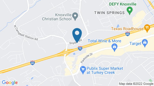 Super 8 by Wyndham Knoxville West/Farragut Map