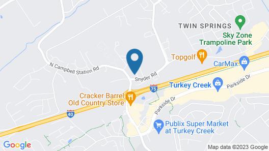 Fairfield by Marriott Inn & Suites Knoxville Turkey Creek Map