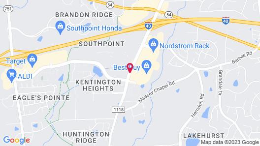 Hilton Garden Inn Durham Southpoint Map