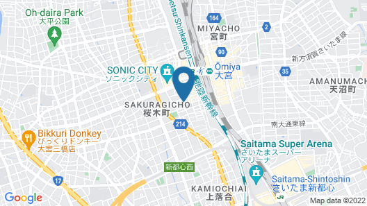 Candeo Hotels Omiya Map