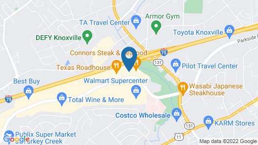 SpringHill Suites by Marriott Knoxville at Turkey Creek Map