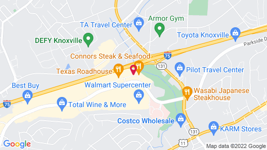 Homewood Suites by Hilton Knoxville West at Turkey Creek Map