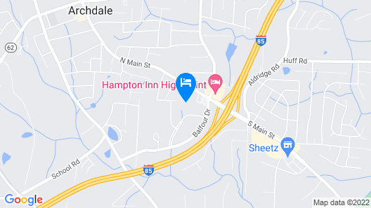 Comfort Inn & Suites High Point - Archdale Map