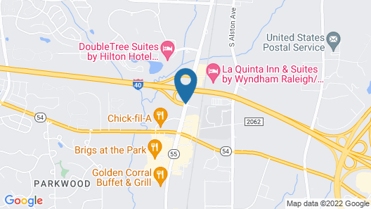 Extended Stay America - Raleigh-Research Triangle Park-Hwy55 Map