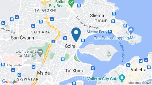 Off the Strand Gzira 3-bedroom Map