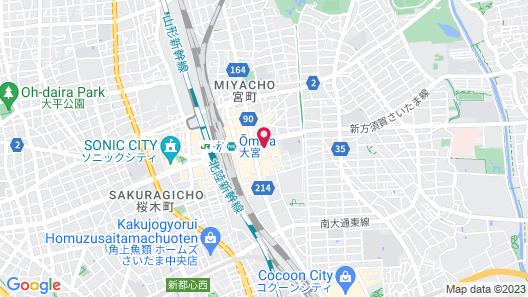 REF Omiya by VESSEL HOTELS Map