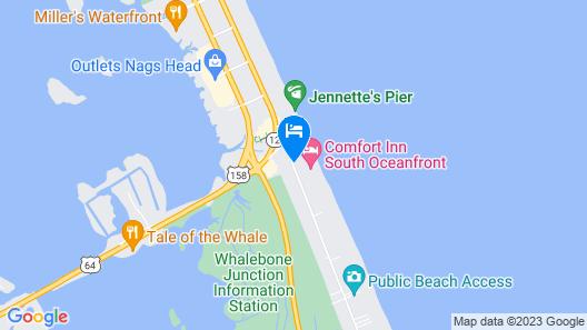 Comfort Inn South Oceanfront Map