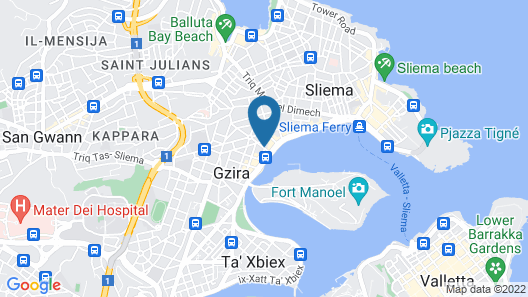 Azur Hotel by ST Hotels Map