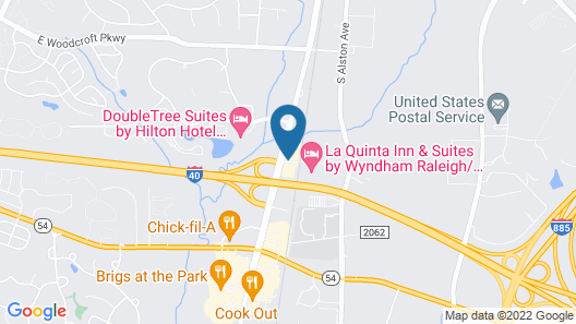 Comfort Inn Research Triangle Park Map