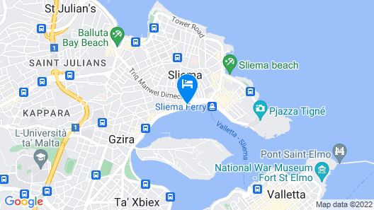 Sliema Hotel by ST Hotels Map