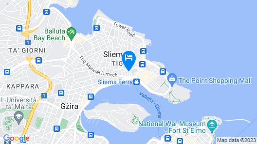 Sliema Ferries Guest House Map