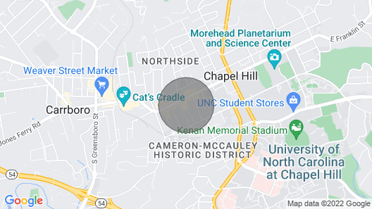 New! Spacious Dtwn Home - 1 Mi to UNC Chapel Hill! Map