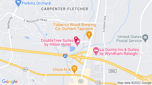 DoubleTree Suites by Hilton Raleigh-Durham Map