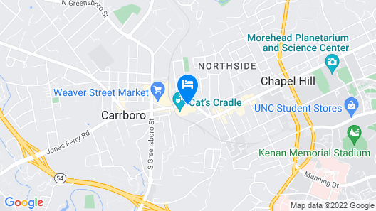 Hampton Inn & Suites Chapel Hill/Carrboro Map