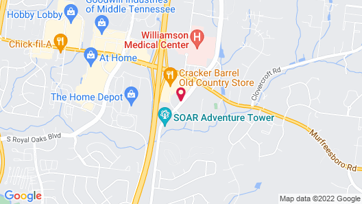 Days Inn by Wyndham Franklin Nashville Map