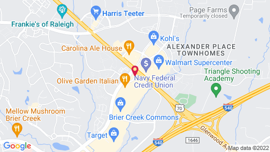 Hampton Inn & Suites Raleigh-Durham Airport-Brier Creek Map