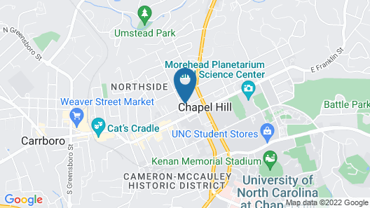 AC Hotel by Marriott Chapel Hill Downtown Map