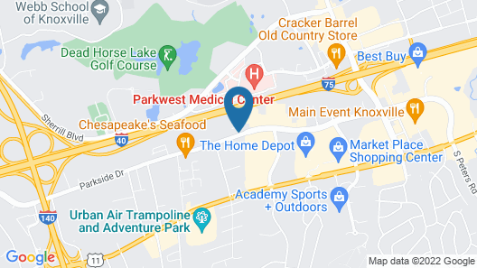 TownePlace Suites by Marriott Knoxville Cedar Bluff Map