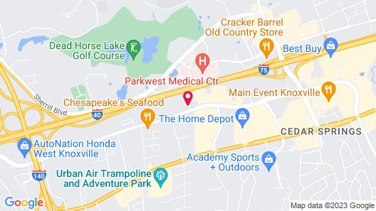 Courtyard by Marriott Knoxville Cedar Bluff Map
