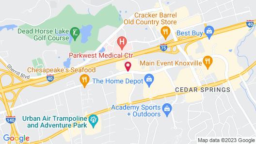 Best Western Plus Cedar Bluff Inn Map