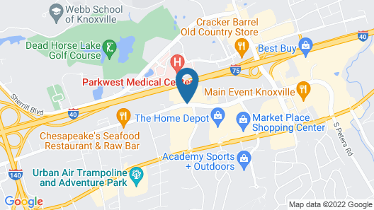 Best Western Plus Knoxville Cedar Bluff Map