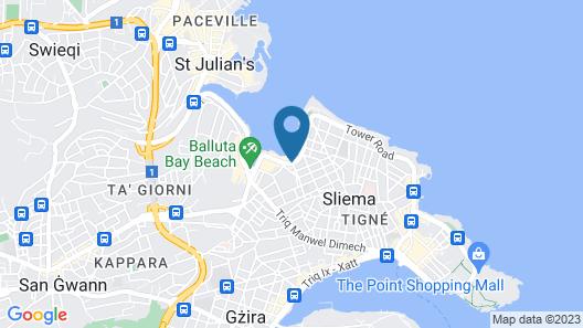 Plaza Regency Hotels Map