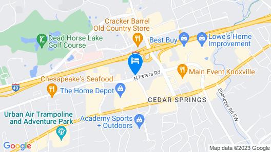 Baymont by Wyndham Knoxville/Cedar Bluff Map