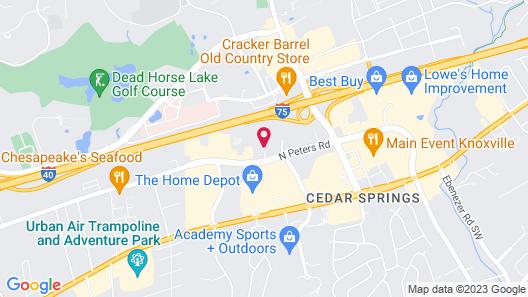 Hilton Garden Inn Knoxville West/Cedar Bluff Map