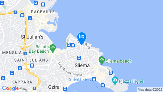 Blanc Boutique Hotel Map