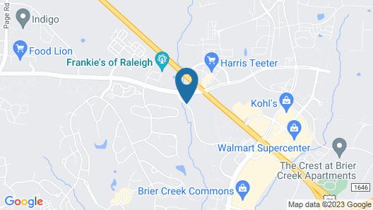 Courtyard Raleigh-Durham Airport/Brier Creek Map