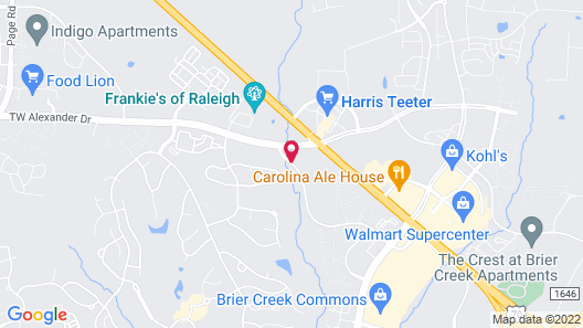 Residence Inn Raleigh-Durham Airport/Brier Creek Map