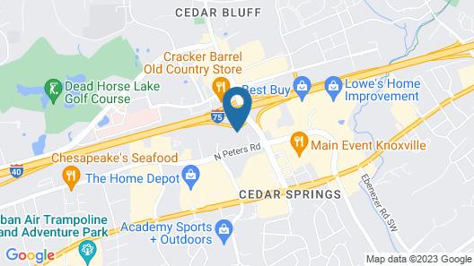 Drury Inn & Suites Knoxville West Map