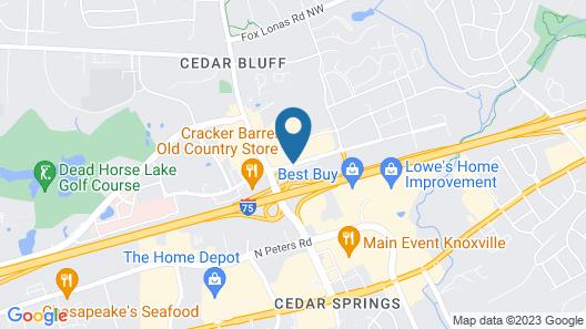 Hampton Inn Knoxville-West At Cedar Bluff Map